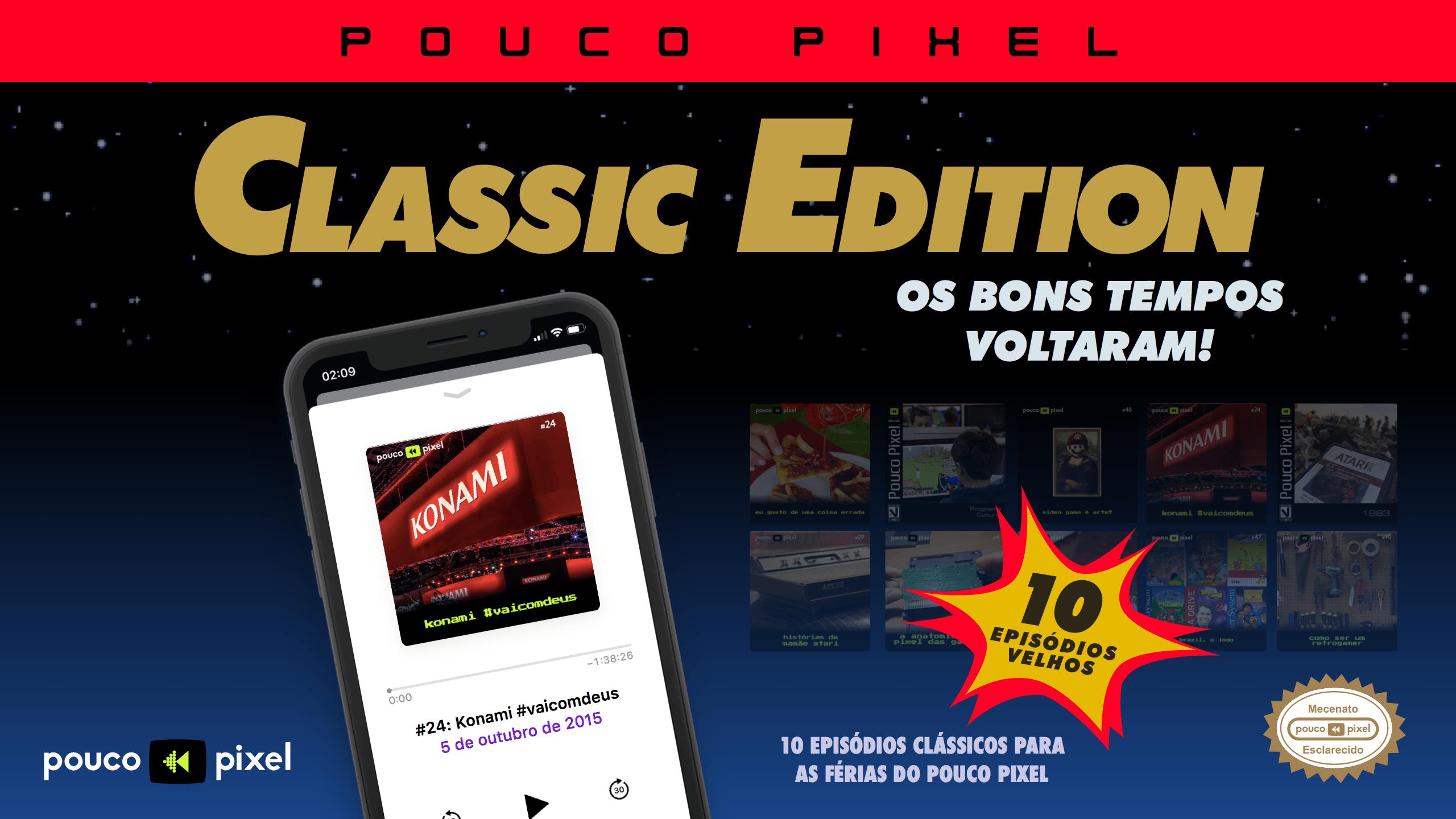Pouco Pixel Classic Edition 4 – Konami #vaicomdeus
